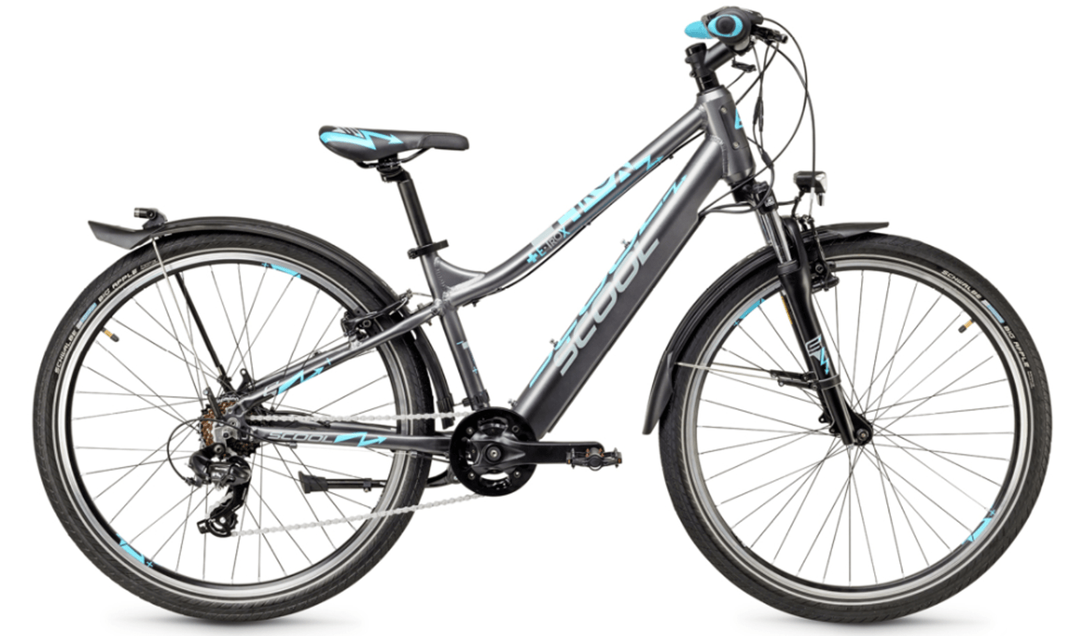 """E Bike Kinder S'cool e-troX 26"""" 7S Shimano Grau"""