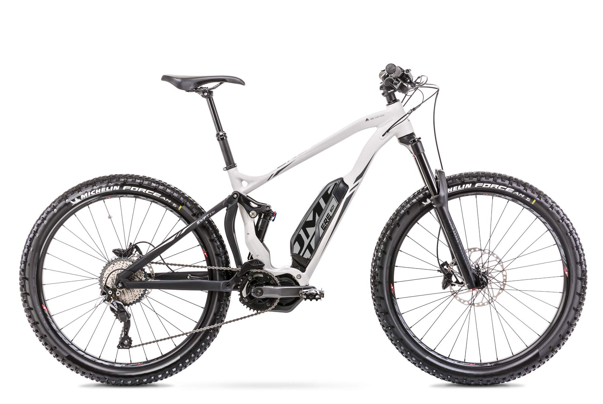 "E Mountainbike Fully Mittelmotor 27,5 Zoll Romet ERE 501 16,5"" Weiss"