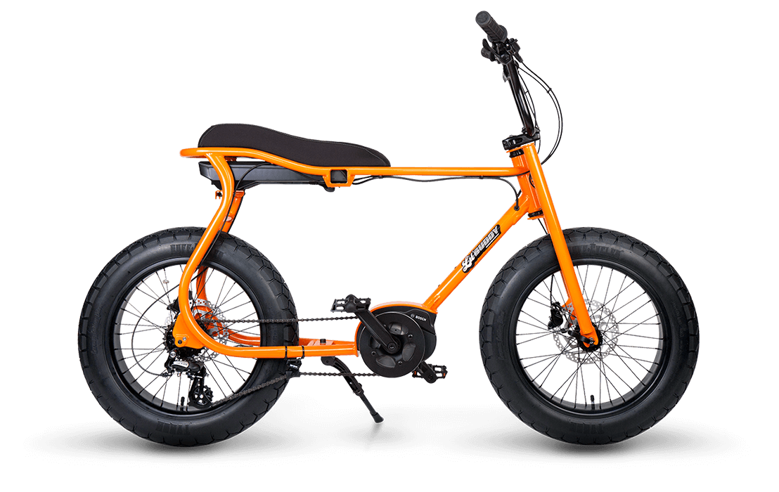 Ruff Cycles Retro E Fatbike Bosch Mittelmotor Lil'Buddy 500Wh Orange