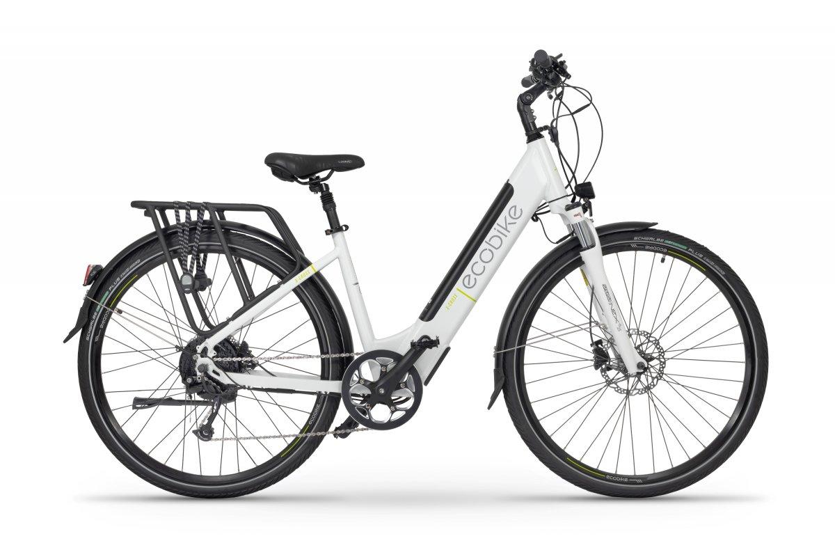 E Bike Damen 28 Zoll Tiefeinsteiger Ecobike X-cross Weiss 468Wh