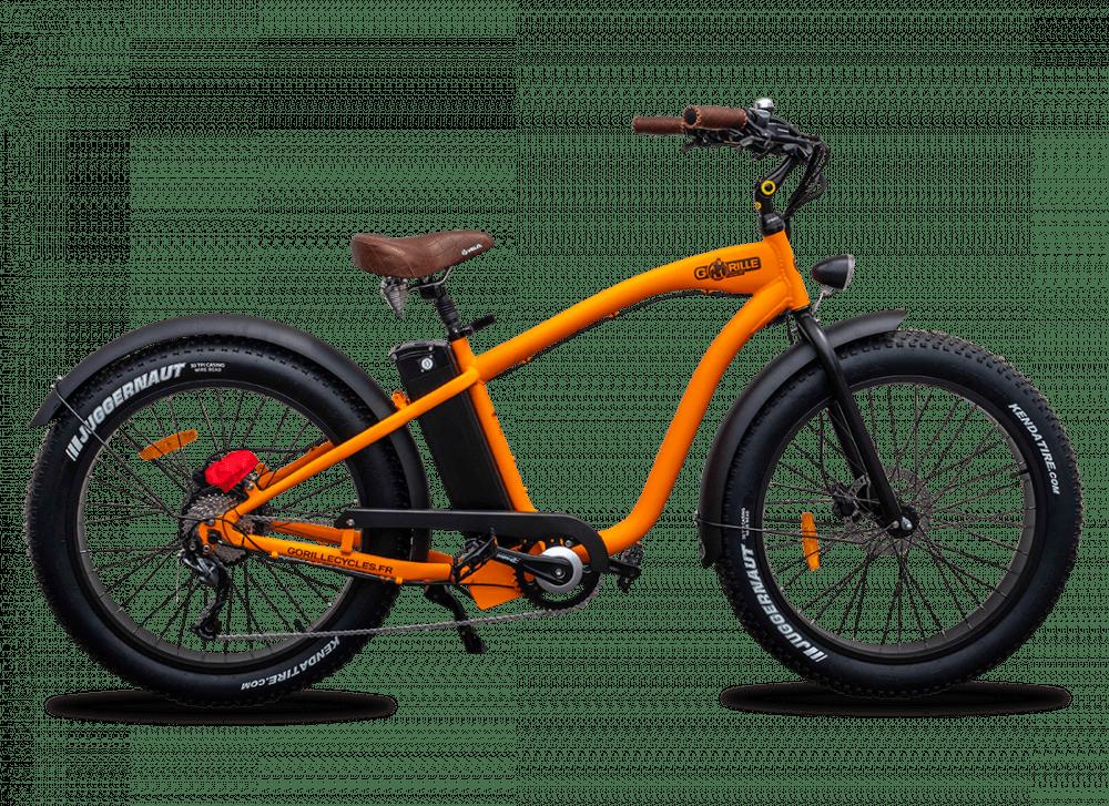 E Fatbike Cruiser Gorille 520Wh Orange