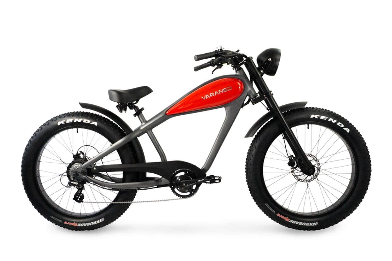 E Chopper Fahrrad Fatbike Varaneo Cafe Racer Rot
