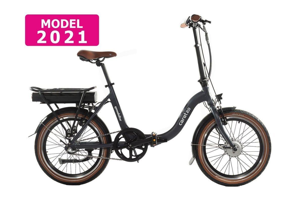 Geobike Smart Klapp E bike Damen Carat 2.0 Schwarz 468Wh