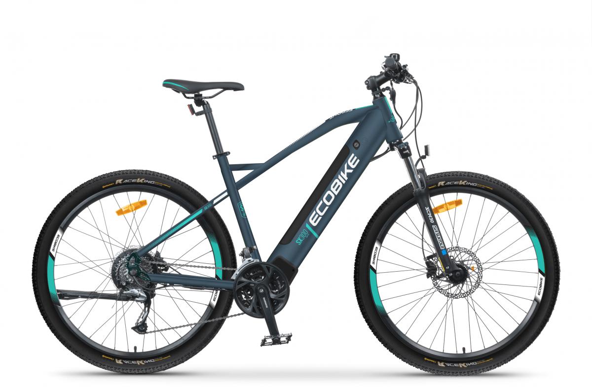 S Pedelec Mountainbike Mittelmotor 45km/h Ecobike SX300 Blau 500Wh