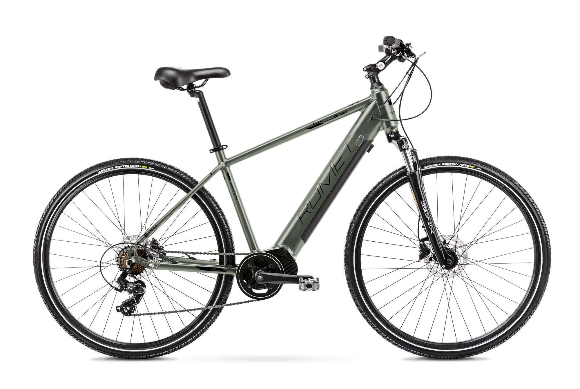 E Bike Trekking Herren Mittelmotor 28 Zoll Romet Orkan 1M 20Inch Gruen