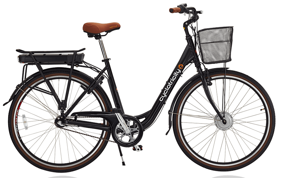 E Bike Damen Hollandrad Cyclotricity Sahara 7ah Batterie Schwarz