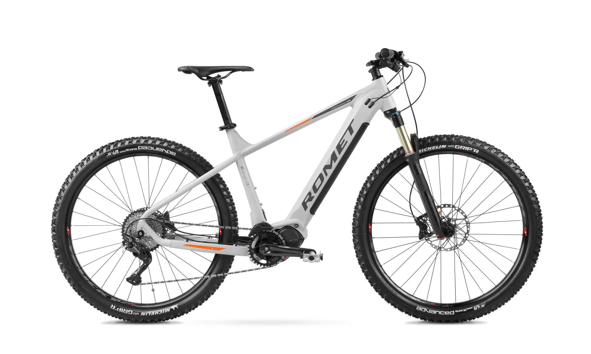 E mountainbike Mittelmotor 27,5 Zoll Romet ERM205 19Inch Weiss