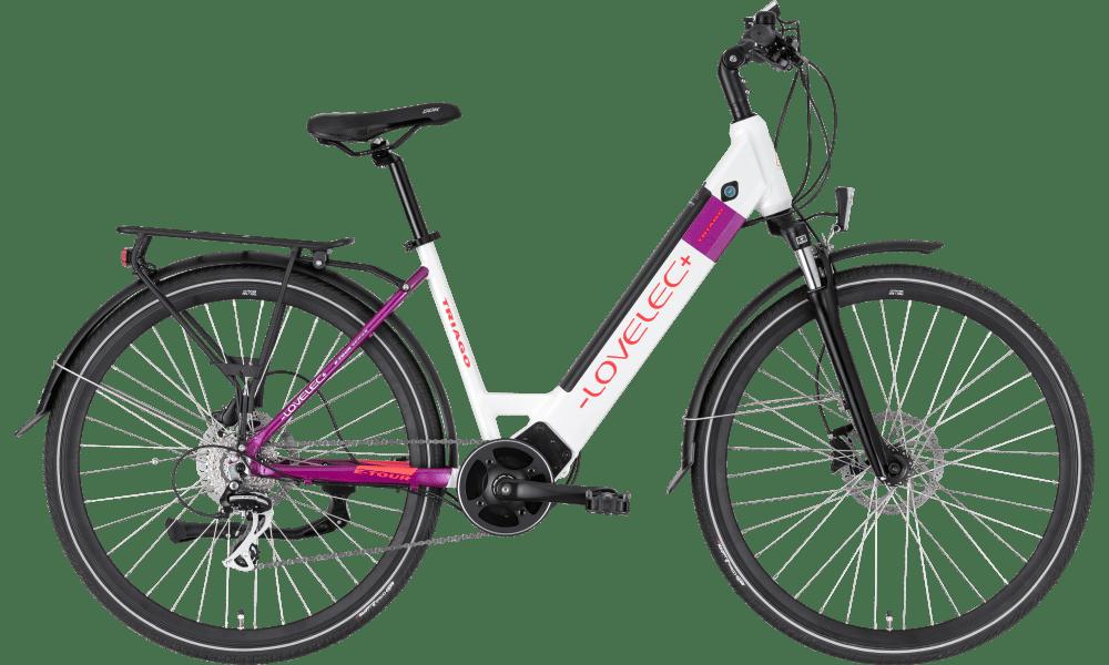 "Trekking E Bike Damen Mittelmotor 28 Zoll Lovelec Triago white 18"" 16ah"