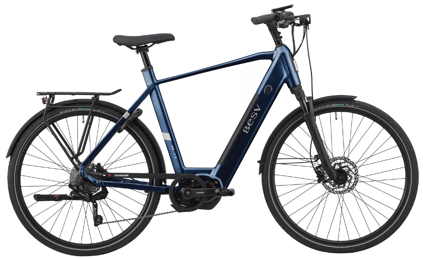 E Bike Trekking BESV TR 1.5 Diamantrahmen Dunkel Blau XL