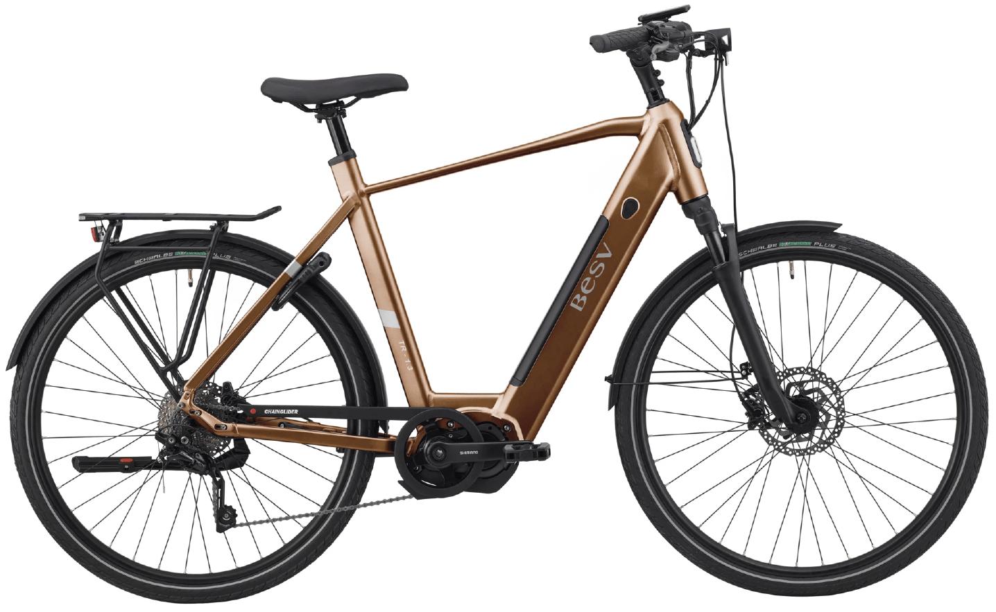 E Bike Trekking BESV TR 1.3 Diamantrahmen Kupfer XL