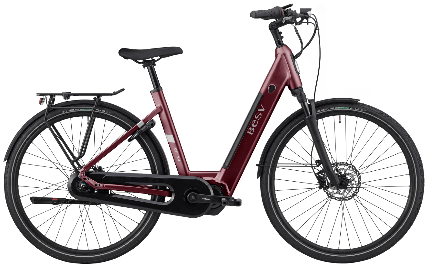 E Bike Damen BESV CT 1.3 Schwanenhalsrahmen Rot M