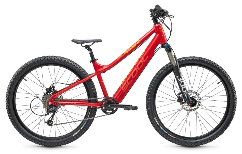 "E Bike Kinder S'cool e-troX 24"" 9S Alivio Rot"