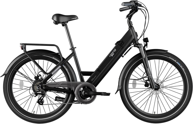 Smart E Bike Damen Legend Milano 10.4ah Batterie Schwarz
