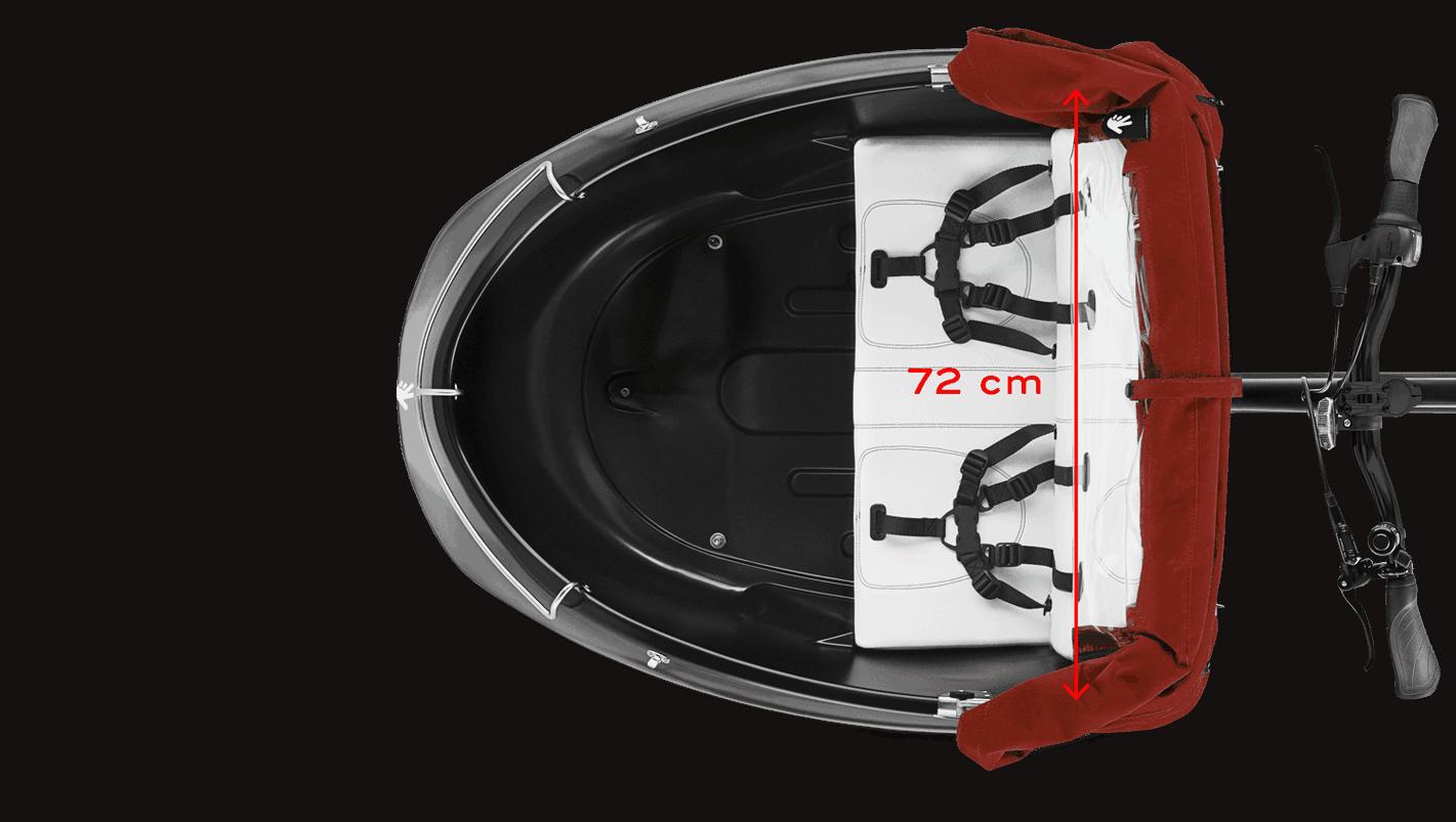 E Lastenrad Triobike Mono Rear Drive 500W