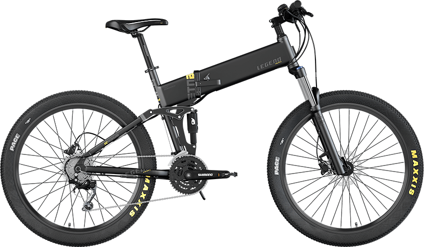 Smart Klapp E Mountainbike Legend Etna 250W 10.4ah Batterie Schwarz