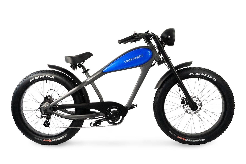 E Chopper Fahrrad Fatbike Varaneo Cafe Racer Blau
