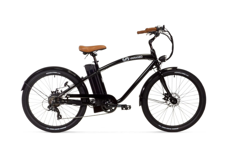 E Bike Cruiser Varaneo Beach Cruiser Schwarz