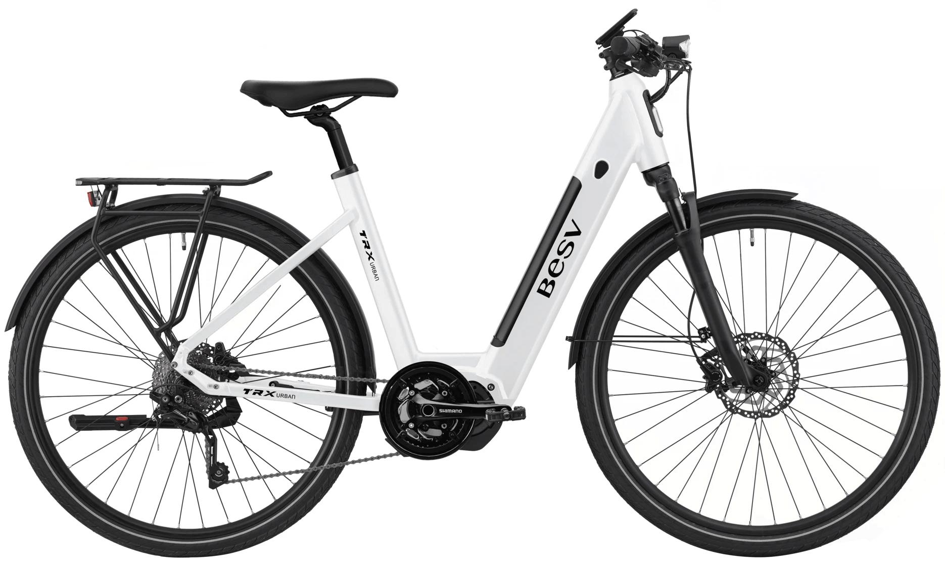 E Bike Damen BESV TRX URBAN Schwanenhalsrahmen Weiss M