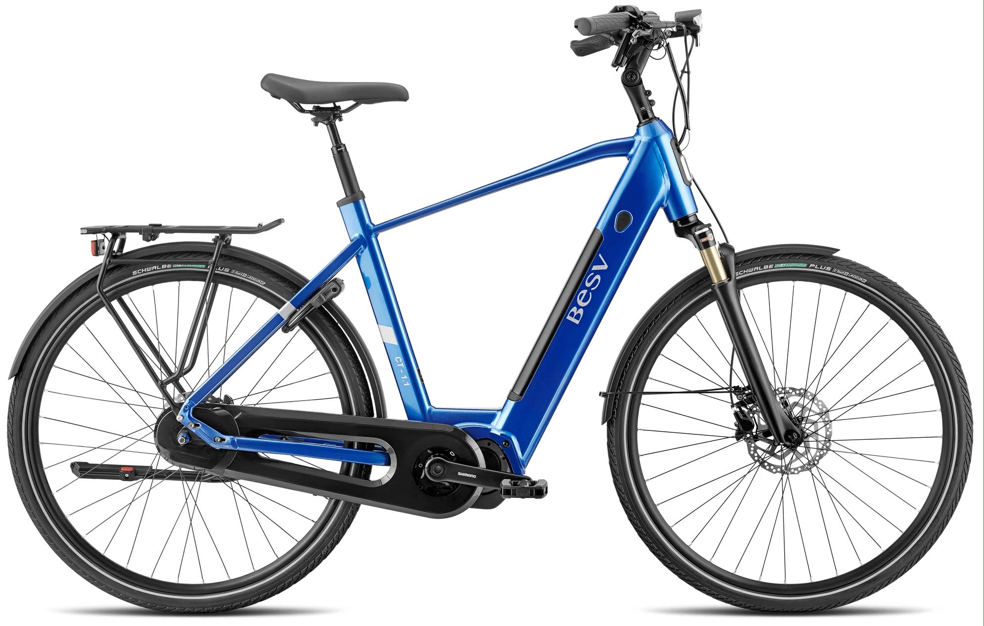 E Bike Trekking BESV CT 1.1 Diamantrahmen Eis Blau L