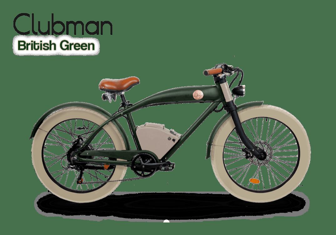 Rayvolt E Bike Cruiser Clubman Gruen verbesserter Akku