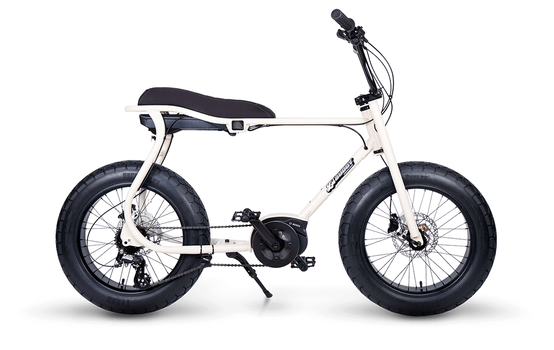 Ruff Cycles Retro E Fatbike Bosch Mittelmotor Lil'Buddy 500Wh Weiss