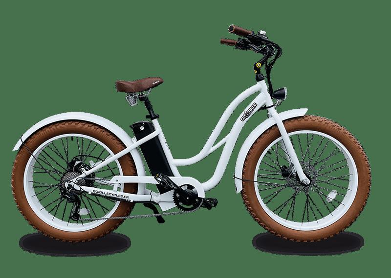 E Bike Damen Gorille 45km/h 980Wh Weiss