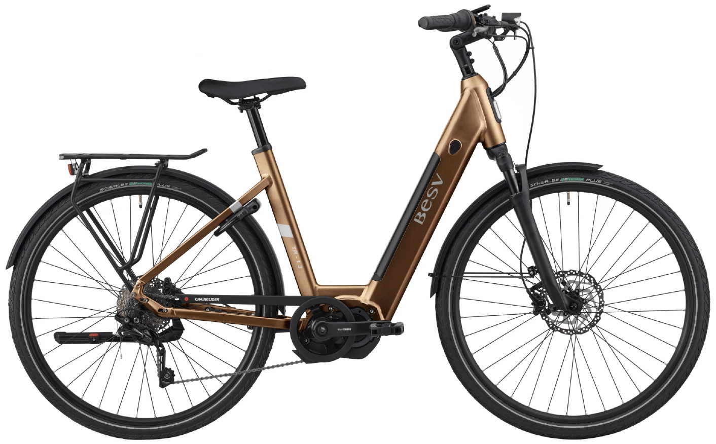 E Bike Damen BESV TR 1.3 Schwanenhalsrahmen Kupfer L