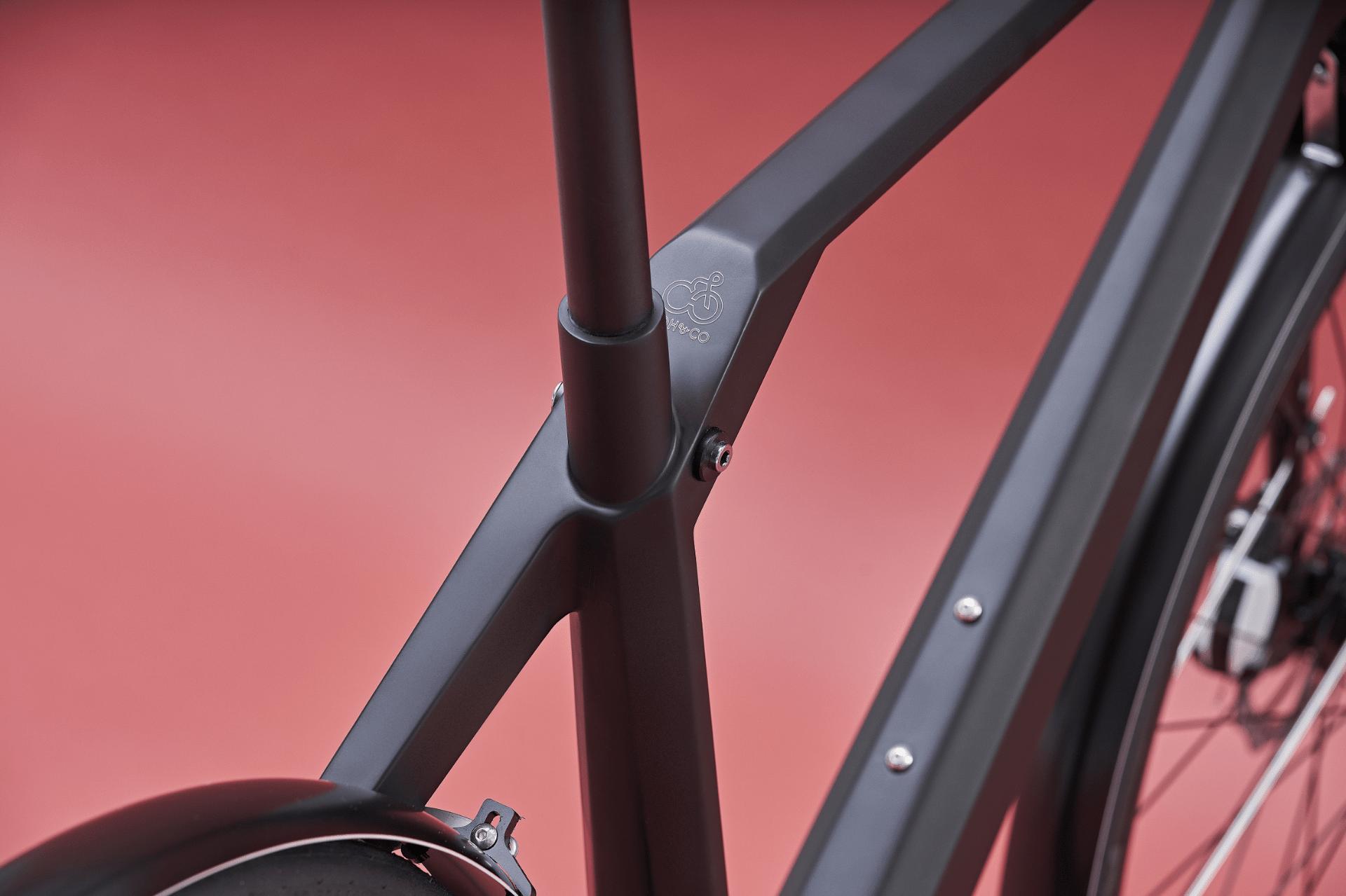 """Design E Bike Coh&Co ERIK Urban Electric 57"""" L Guertel Schwarz"""