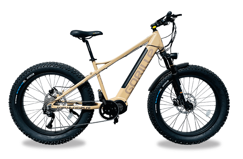 E Mountainbike Fatbike Gorille Athlete Mittelmotor 25km/h Gold