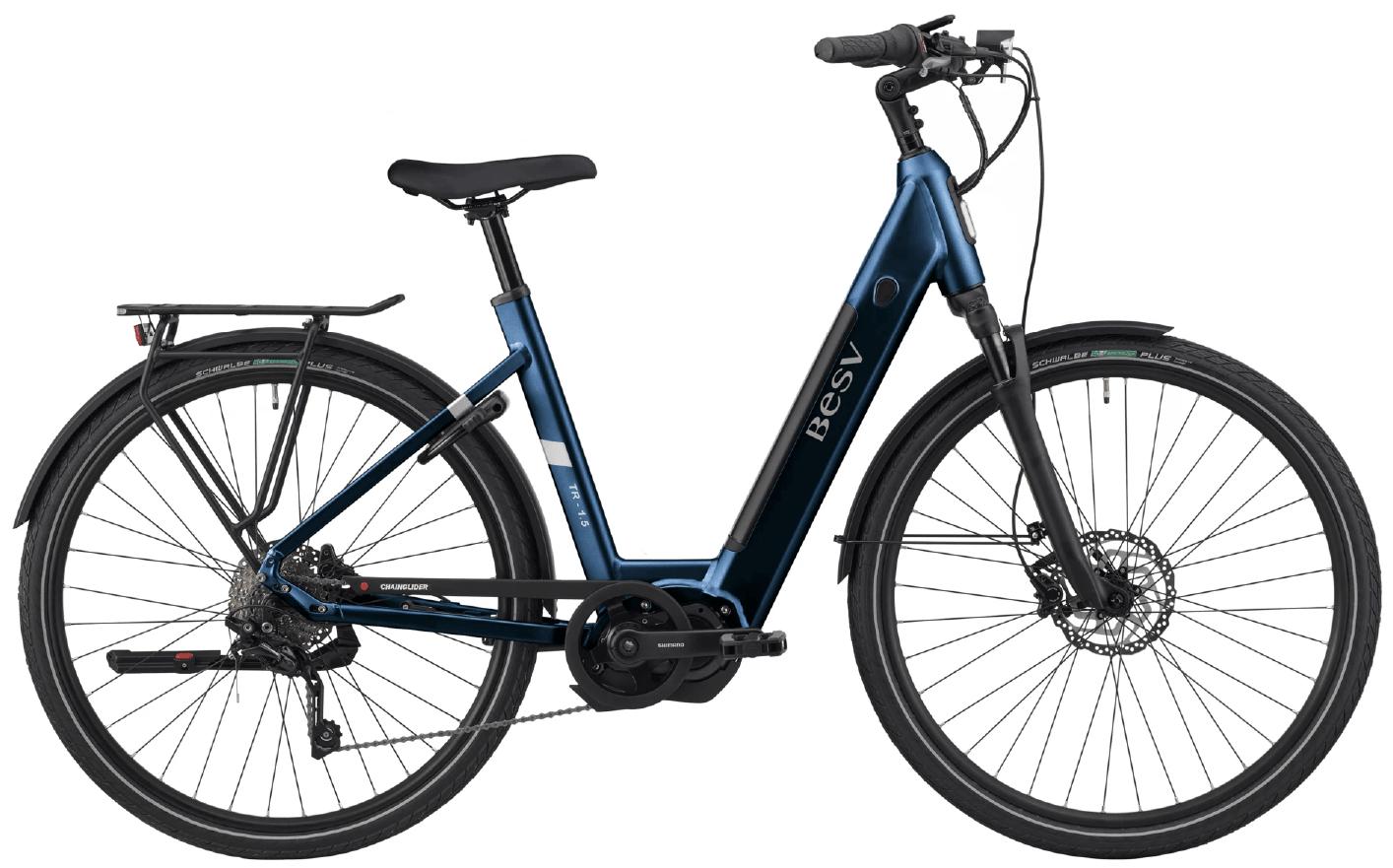 E Bike Damen BESV TR 1.5 Schwanenhalsrahmen Dunkel Blau L