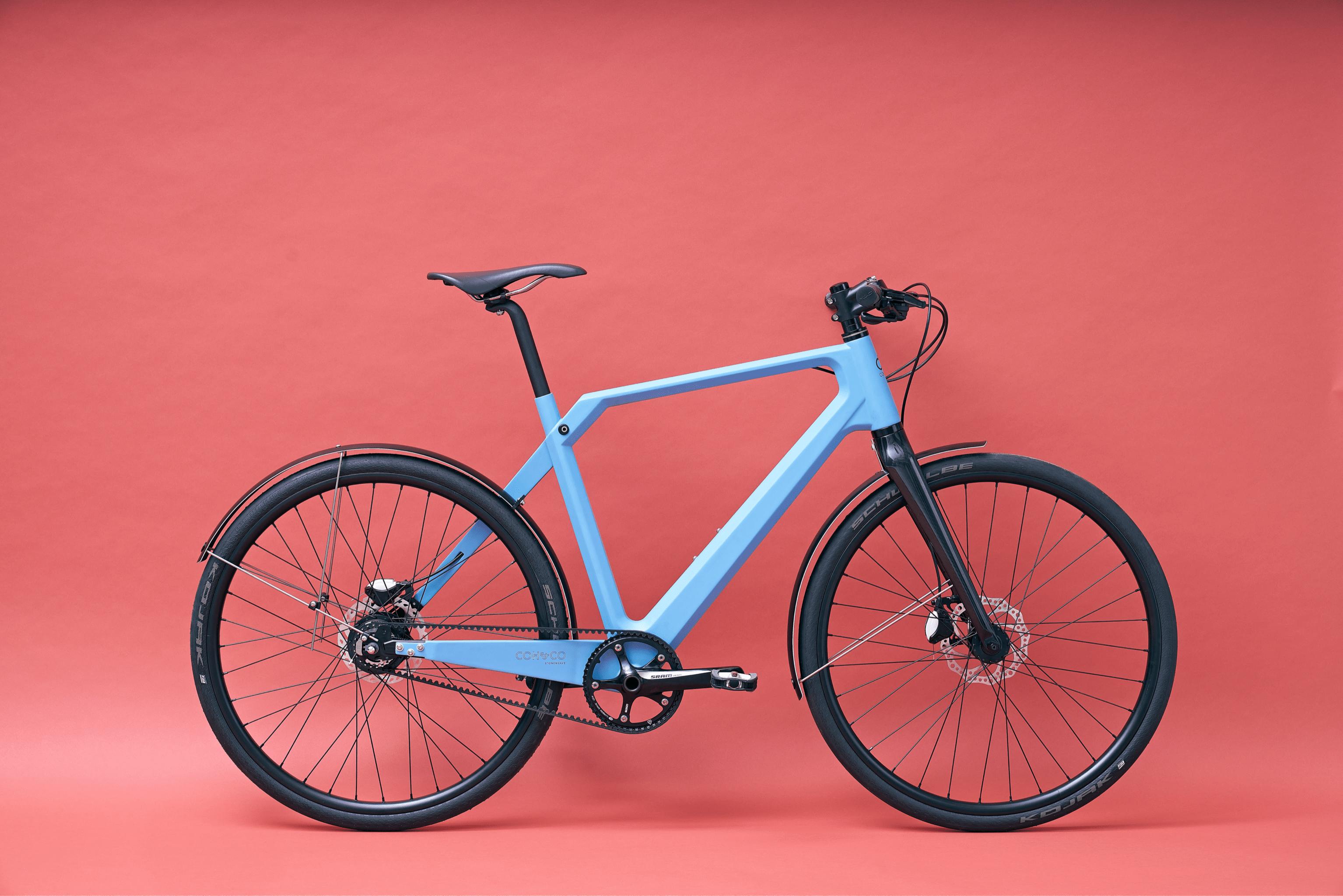 """Design E Bike Coh&Co ERIK Urban Electric 57"""" L Kette Blau"""