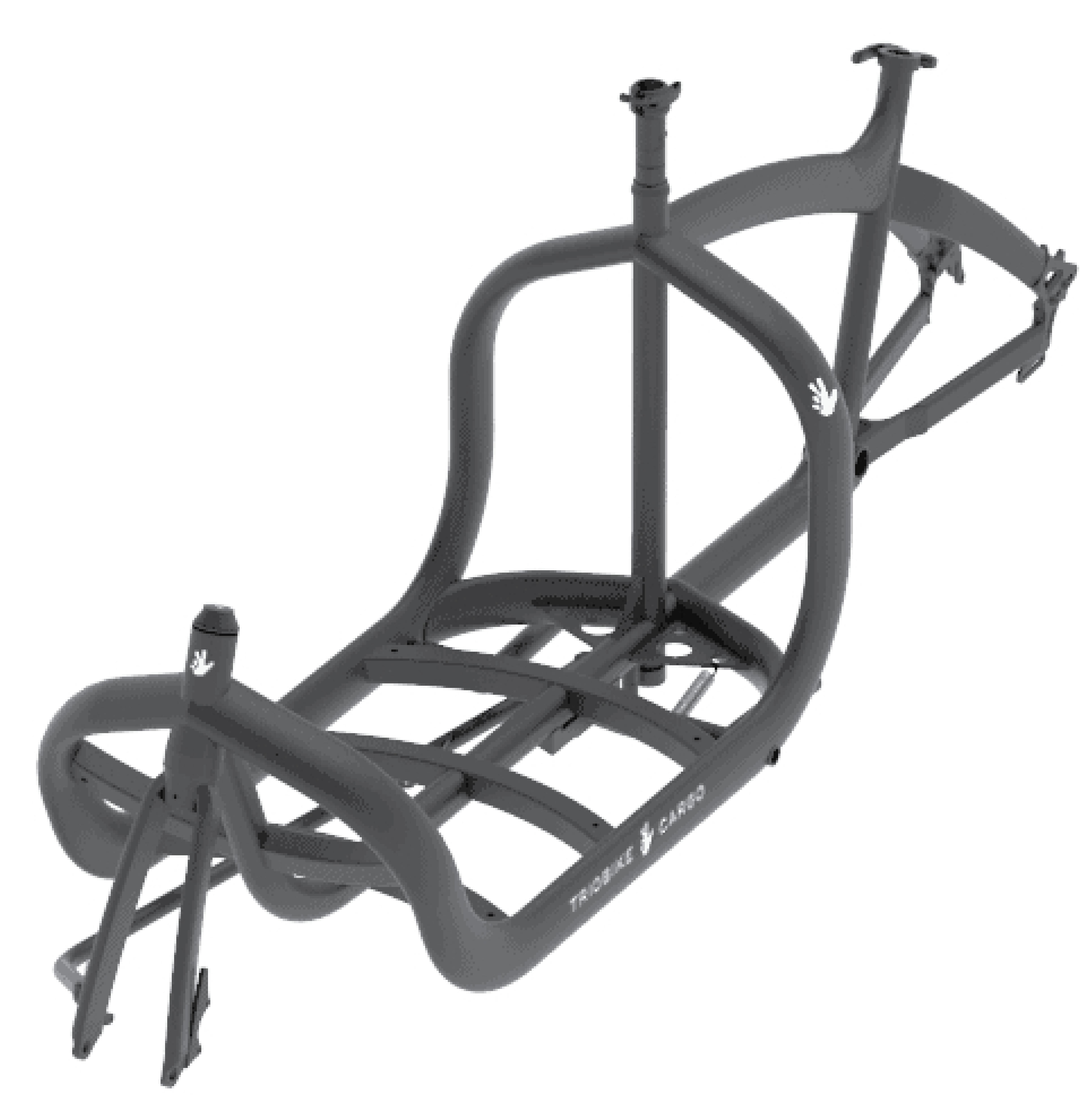 E Lastenrad Frame kit Triobike Schwarz