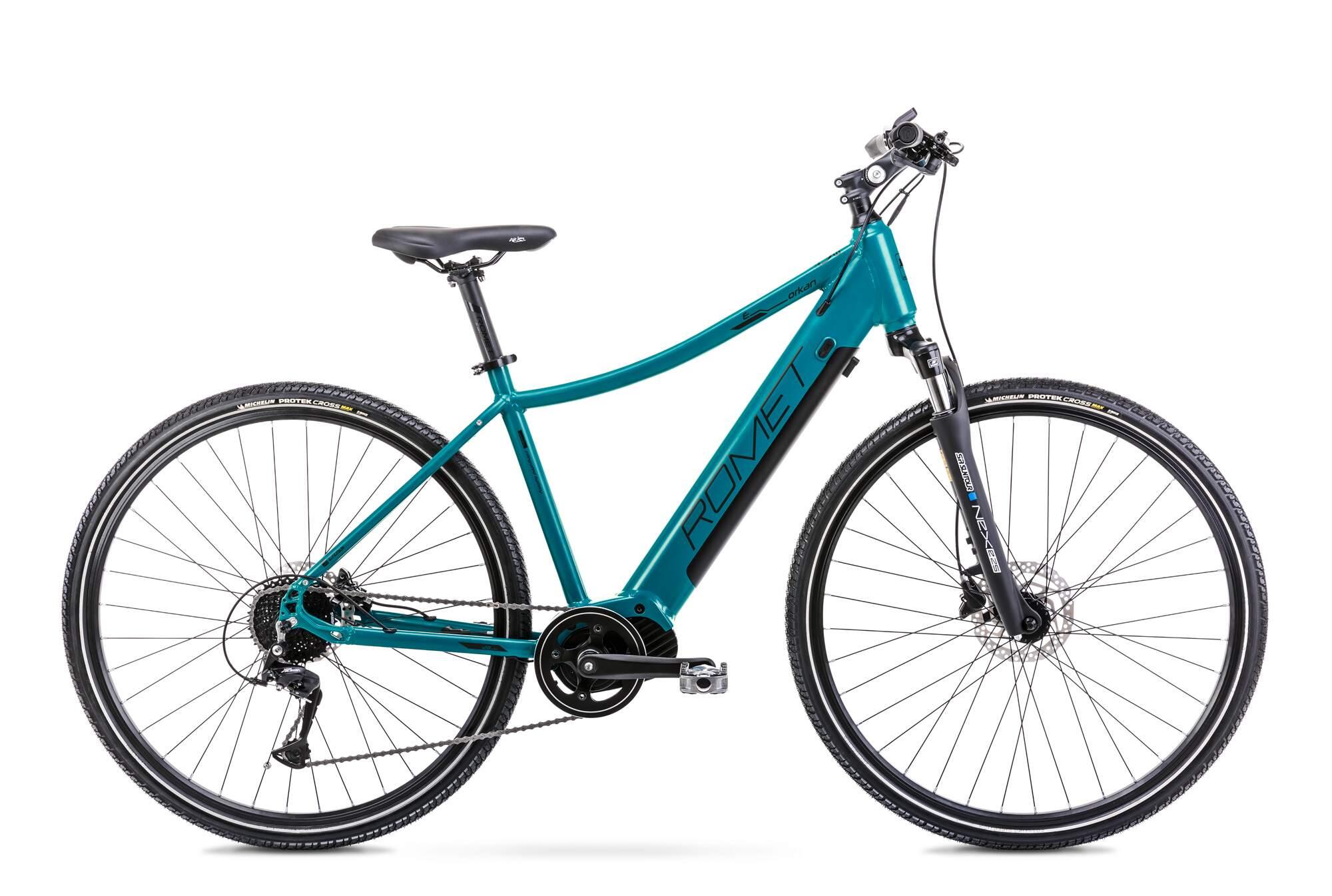 E Bike Trekking Herren Mittelmotor 28 Zoll Romet Orkan 2D 20Inch Blau