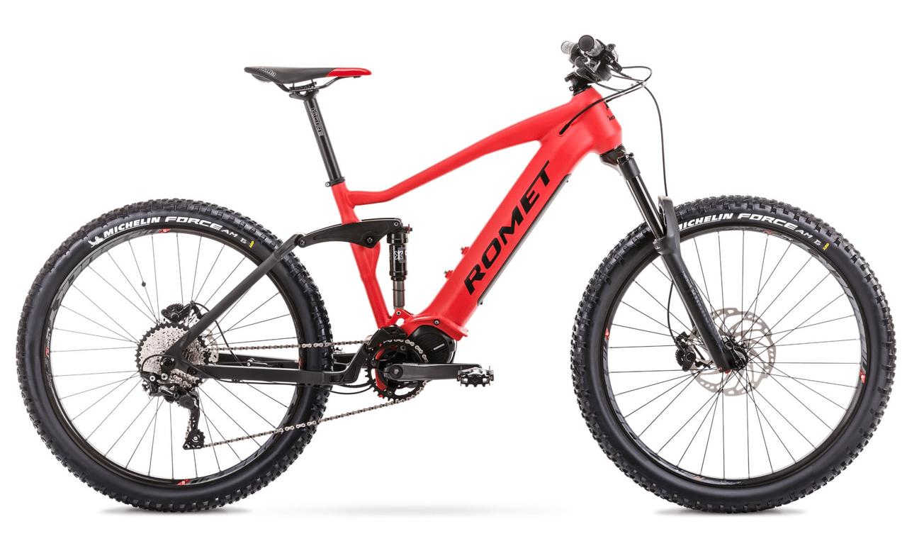 """E Mountainbike Fully Mittelmotor 27,5 Zoll Romet ERE 505 17"""" Rot"""