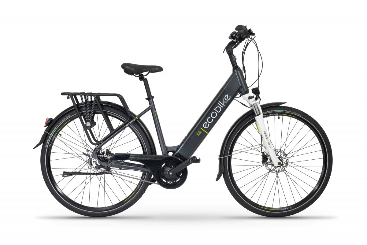 E Bike Damen 28 Zoll Mittelmotor Tiefeinsteiger Ecobike LX Blau 500Wh