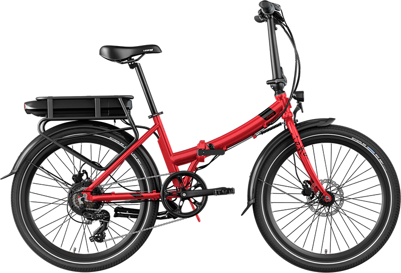 Smart Klapp E Bike Tiefeinsteiger Legend Siena 10.4ah Batterie Rot