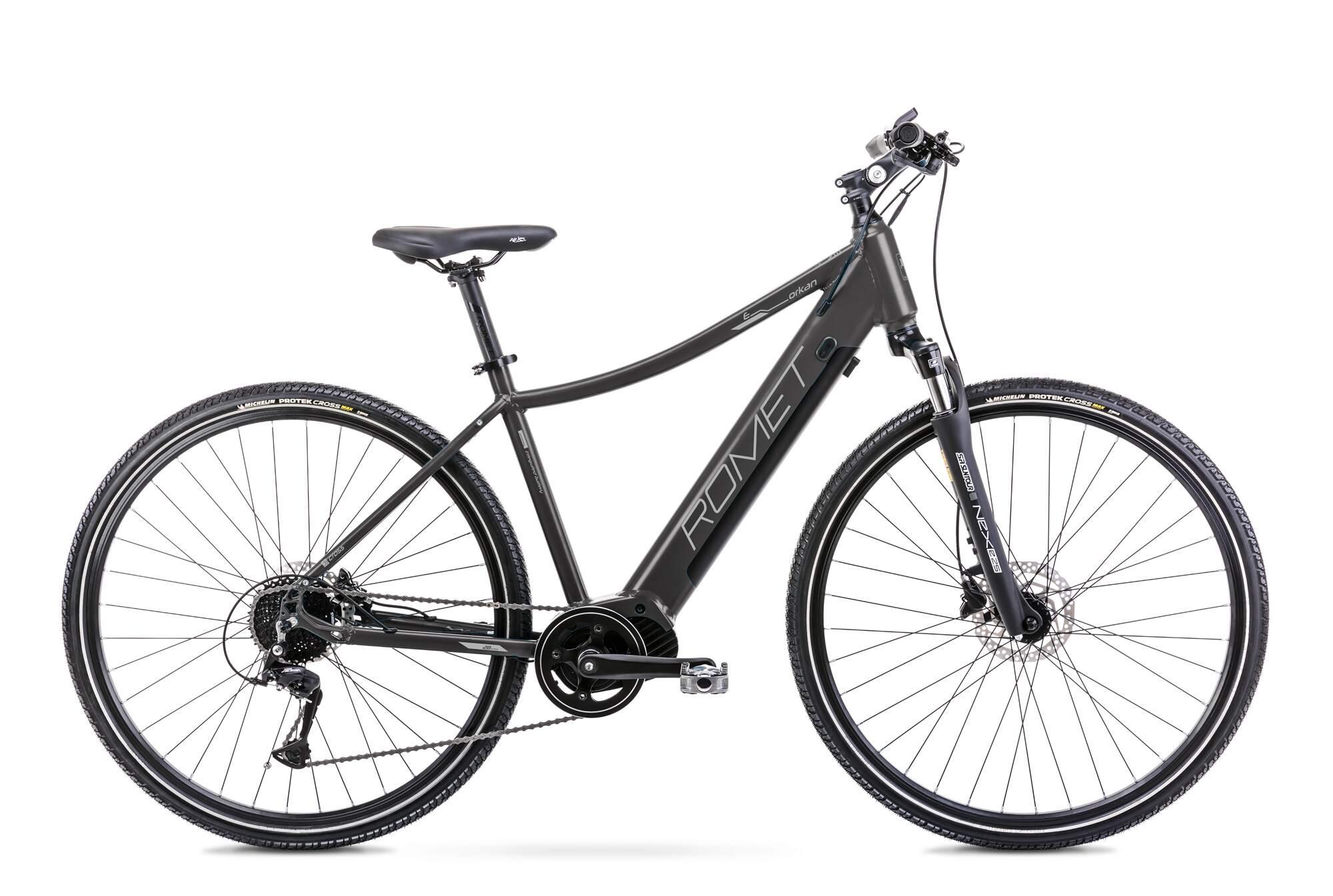 E Bike Trekking Herren Mittelmotor 28 Zoll Romet Orkan 2D 20Inch Schwarz
