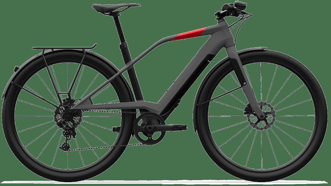 Smart E Bike Trekking Mittelmotor Logo FS10 Grau M