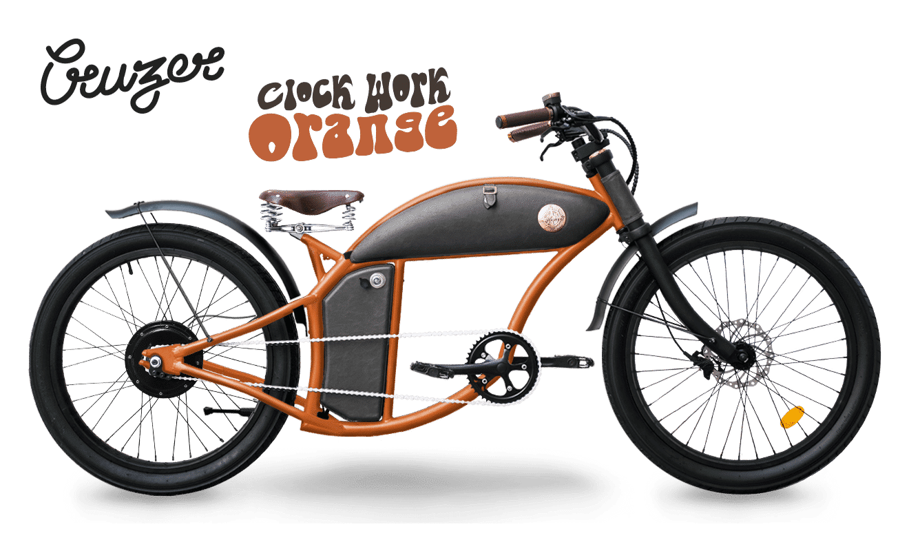 Rayvolt E Chopper Fahrrad Cruzer 45km/hr Orange M Standard Akku