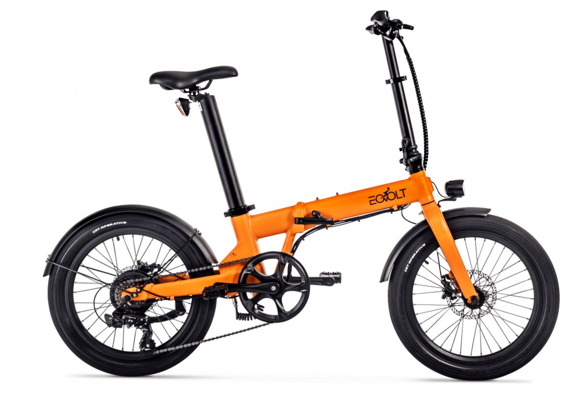 Klapp E Bike 20 Zoll EOVOLT Comfort Orange