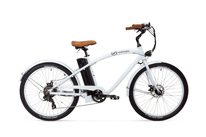 E Bike Cruiser Varaneo Beach Cruiser Weiss
