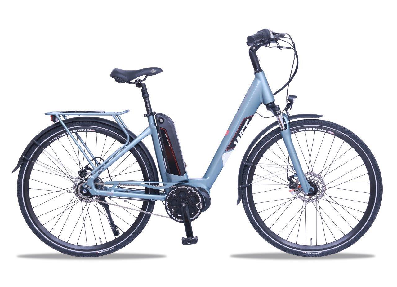E Bike Damen Smart Geobike Mittelmotor WEE Calcite 630Wh