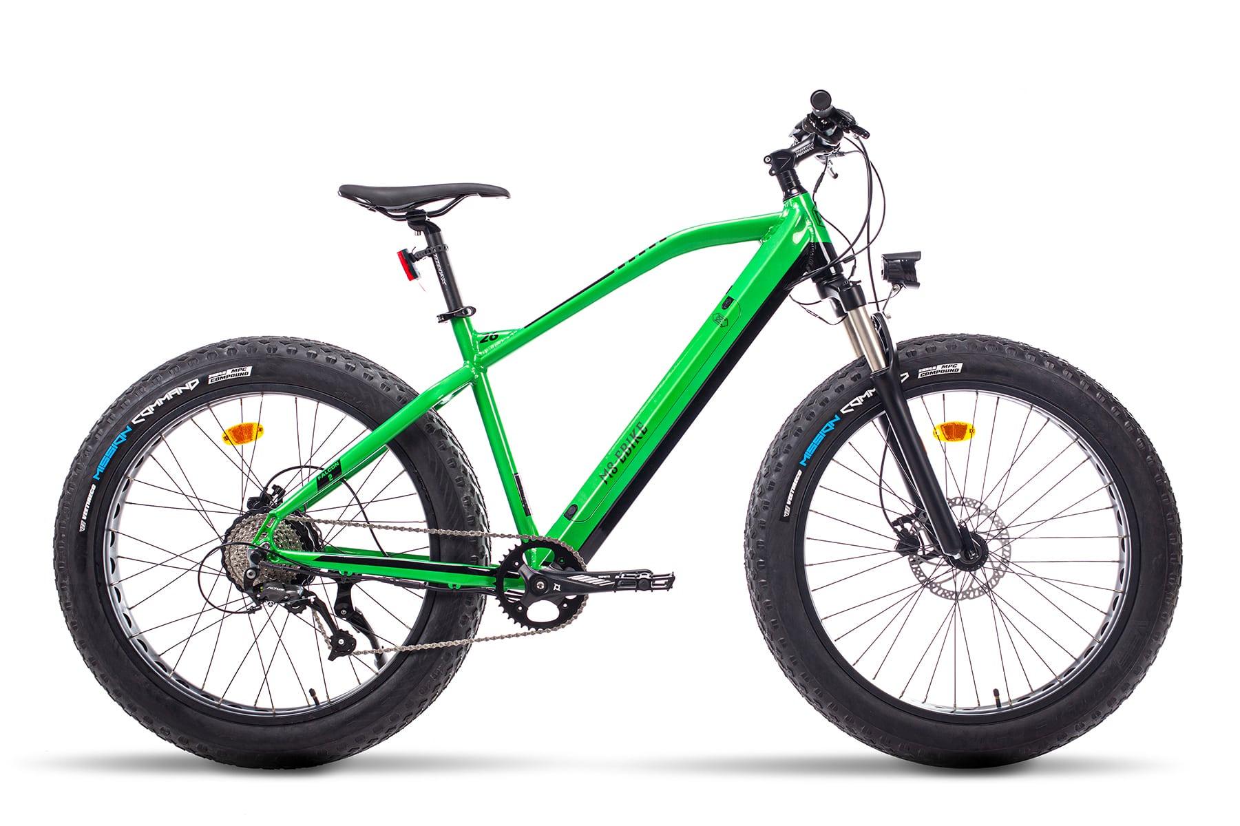 E Fatbike Mountainbike Falcon Gruen