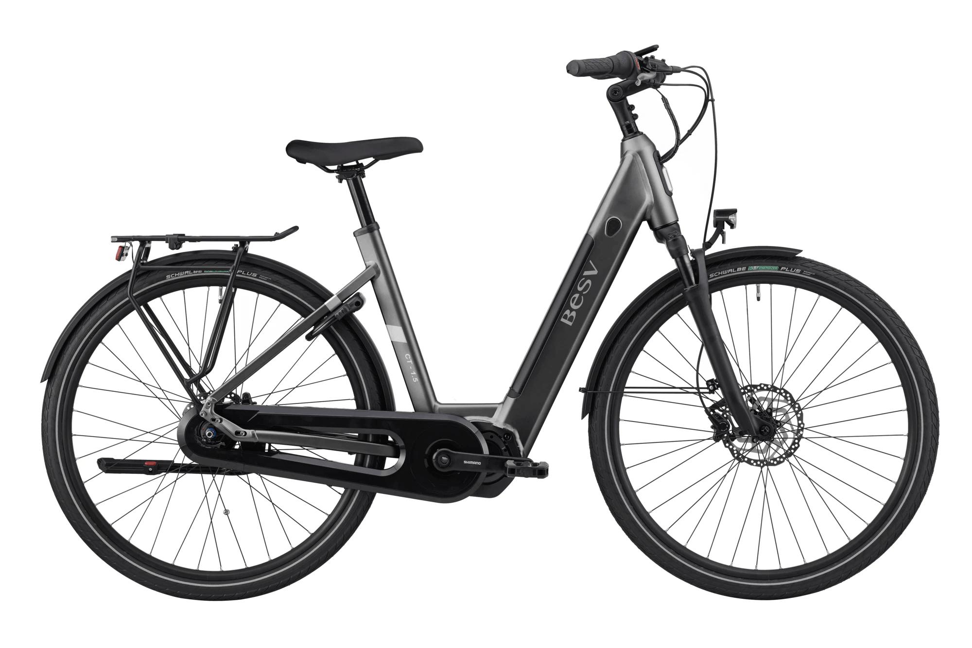 E Bike Damen BESV CT 1.5 Schwanenhalsrahmen Matt Grau M