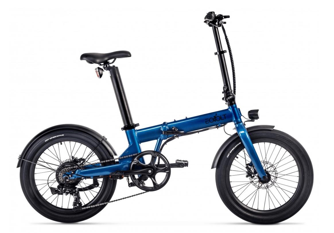 Klapp E Bike 20 Zoll EOVOLT Comfort Blau