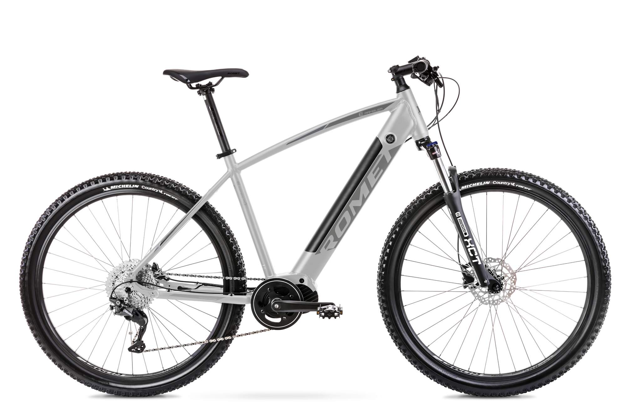 E Mountainbike Mittelmotor 29 Zoll Romet E-Rambler 18Inch Silber