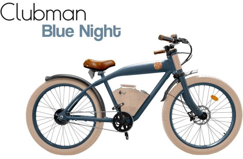 Rayvolt E Bike Cruiser Clubman Blau Standard Akku
